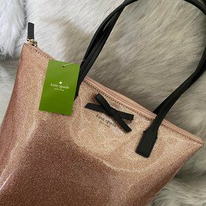 kate spade Bags - Kate Spade Rose Gold Sparkly Tote